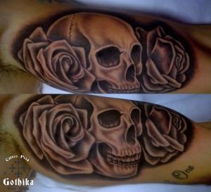 Teschio rose