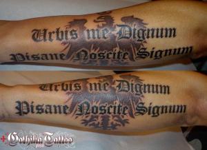 Urbis me dignum pisane noscite signum